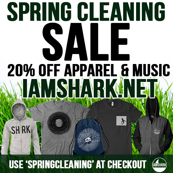 Have a bunch of merch left over from Comic-Con and need to get rid of it! Started cleaning out the   I Am Shark   office yesterday, so we're having a Spring Cleaning Sale. 20% of all Apparel and Music - use 'SPRINGCLEANING' at checkout    http://iamshark.limitedrun.com/