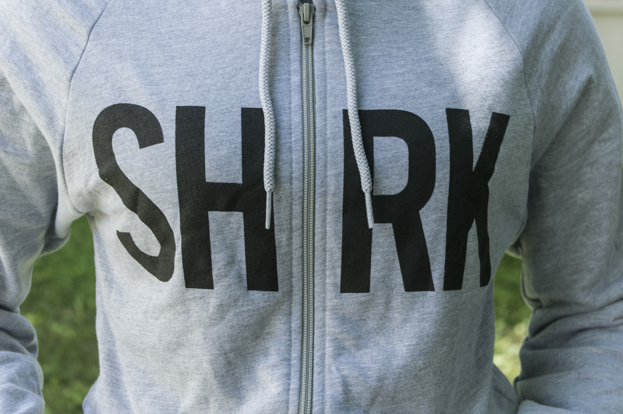 SHRK! All hail hardcore sweatshirts from I Am Shark Get one now at: http://iamshark.limitedrun.com/products/501981-shrk-hoodie