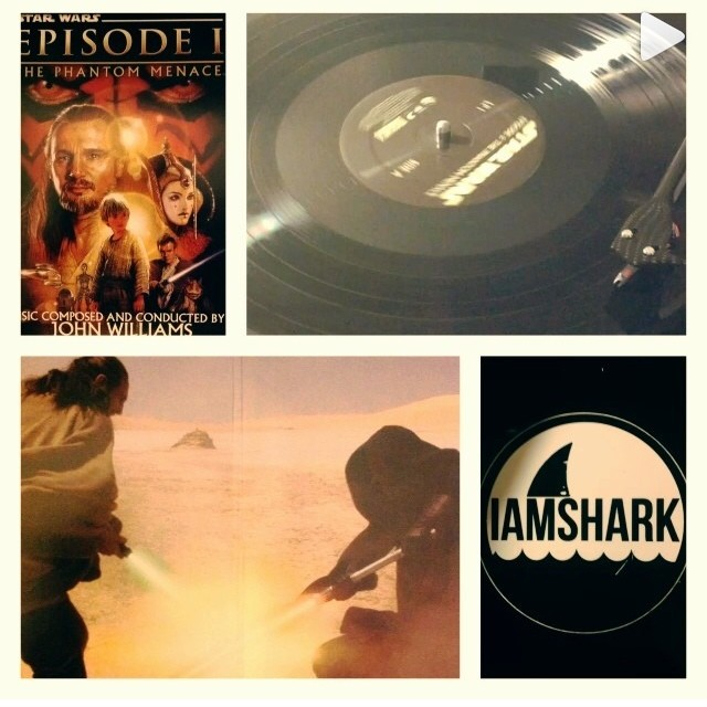 #regram from @theltdpress enjoying the #starwars 2xLP's! Get 'em at IAMSHARK.NET #vinyl