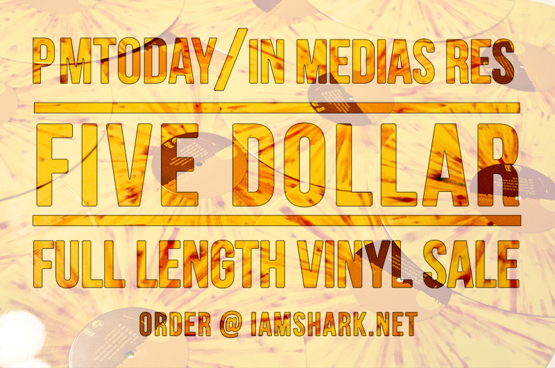 In honor of  PMtoday 's final show yesterday with Circa Survice, Brand New and more. We are hosting a  $5 SALE  on their full-length  IN MEDIAS RES  vinyl LP's    http://iamshark.limitedrun.com    Get these while they last, only have a few boxes left!