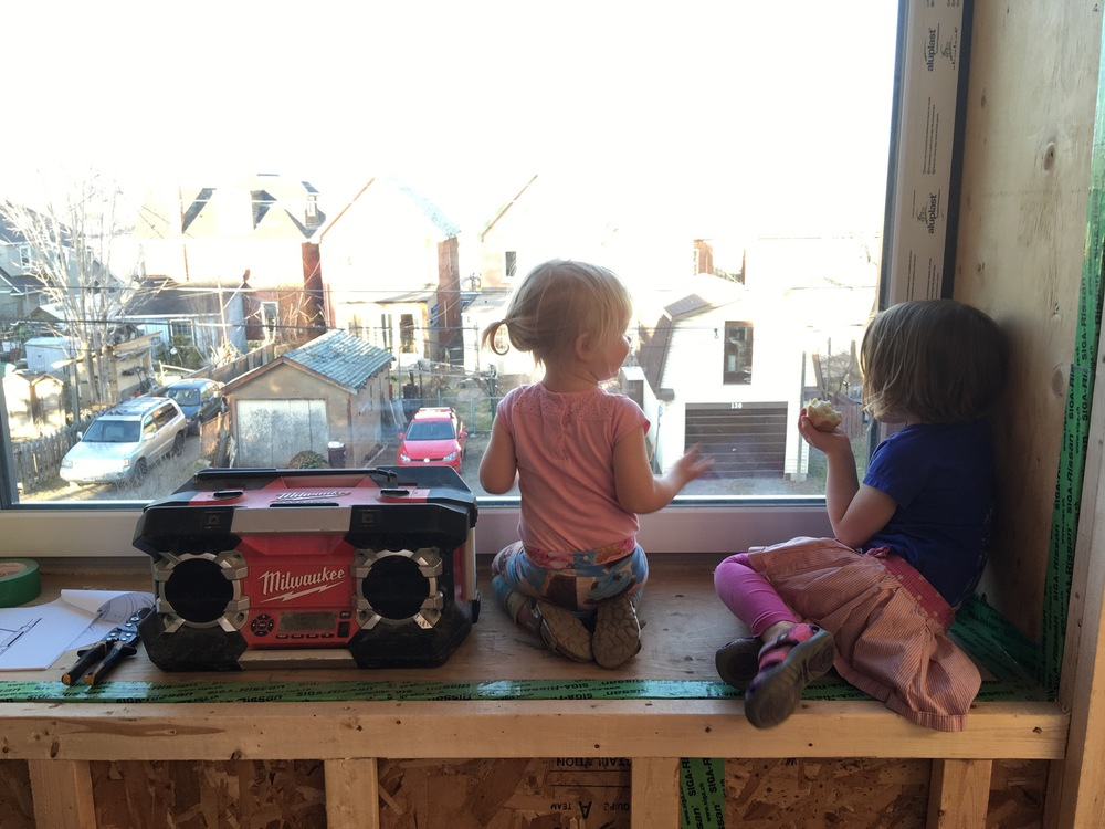 My wee ones staring out the sitting window #milwaukee