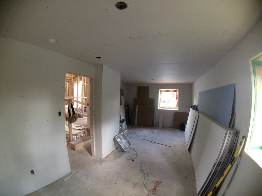 Drywall is getting hung, son!