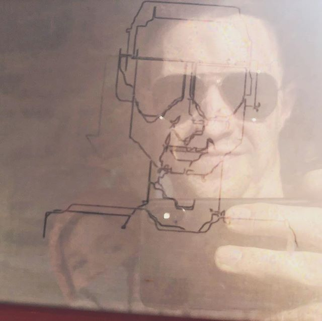 Etch-a-sketch selfie (drawn by me, photographed by Mark). #etchasketch @thecatincarp