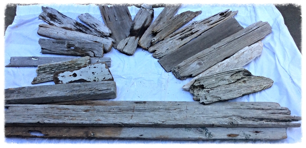 Driftwood in all shapes and sizes ready for your custom made driftwood sign...