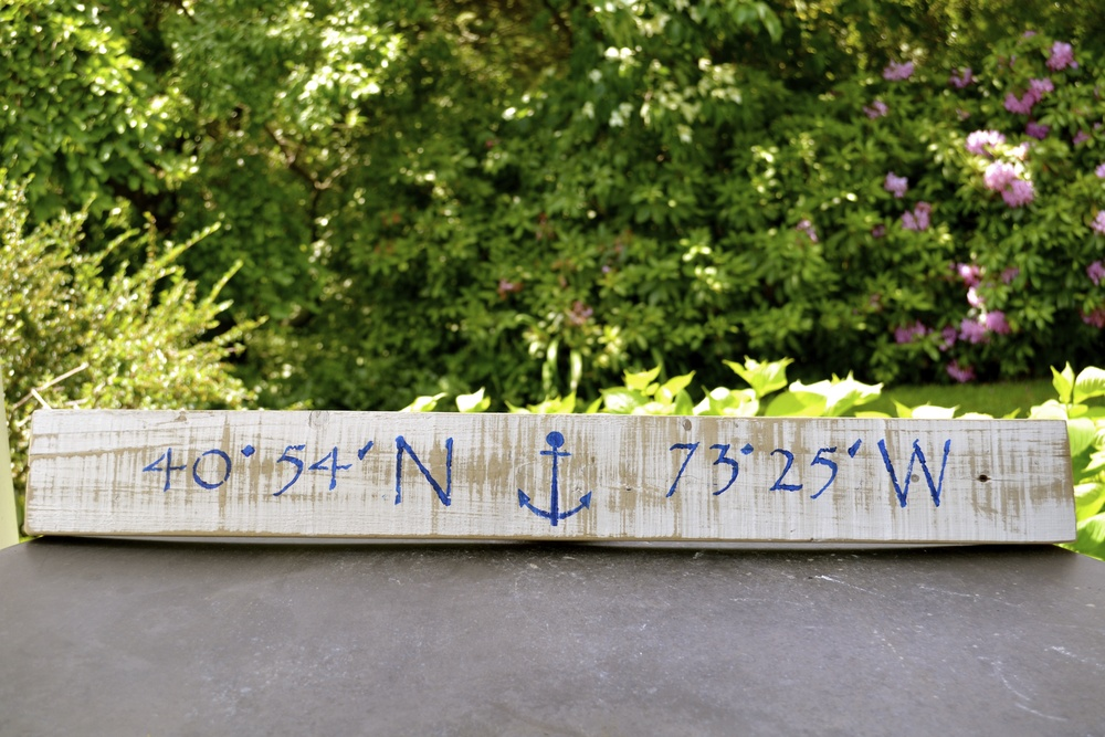 nautical coordinates for the huntington harbor lighthouse where this sign is hung