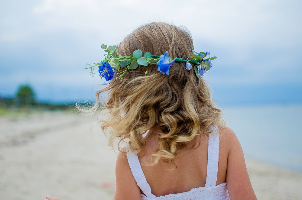 Flower Crown Long Island Beach Wedding