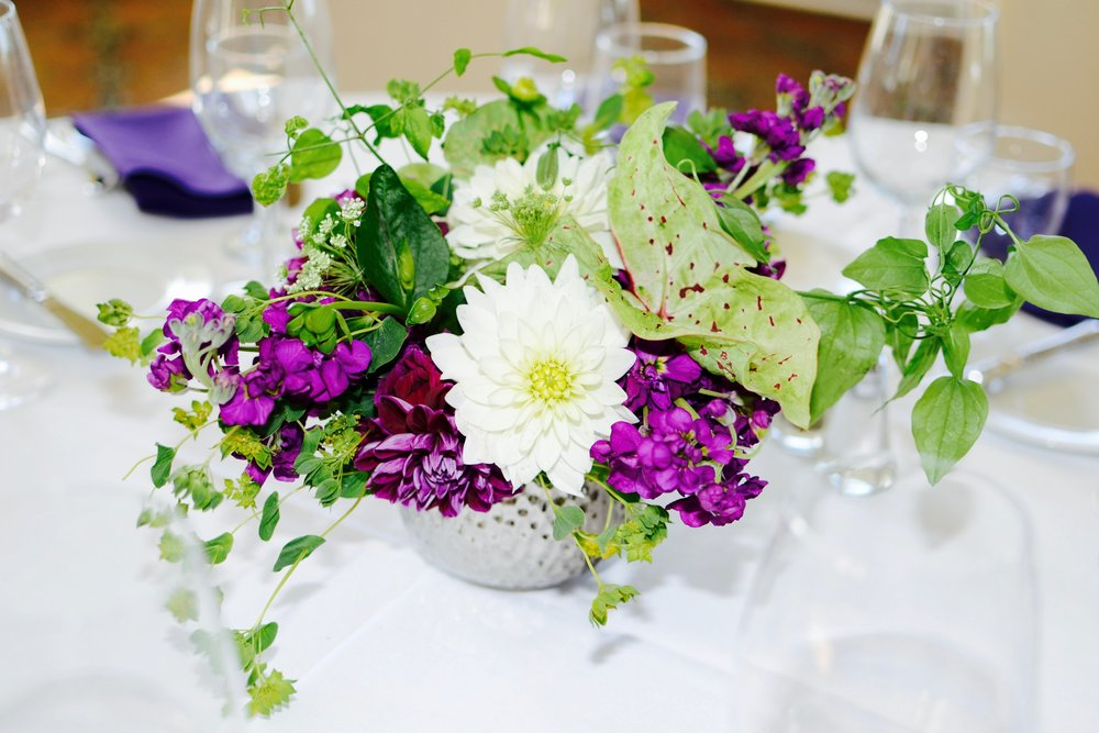 Garden Style Flower Centerpiece for Corporate Event
