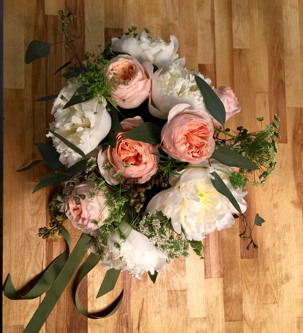 Bridal Bouquet David Austin Juliet Garden Rose Peony