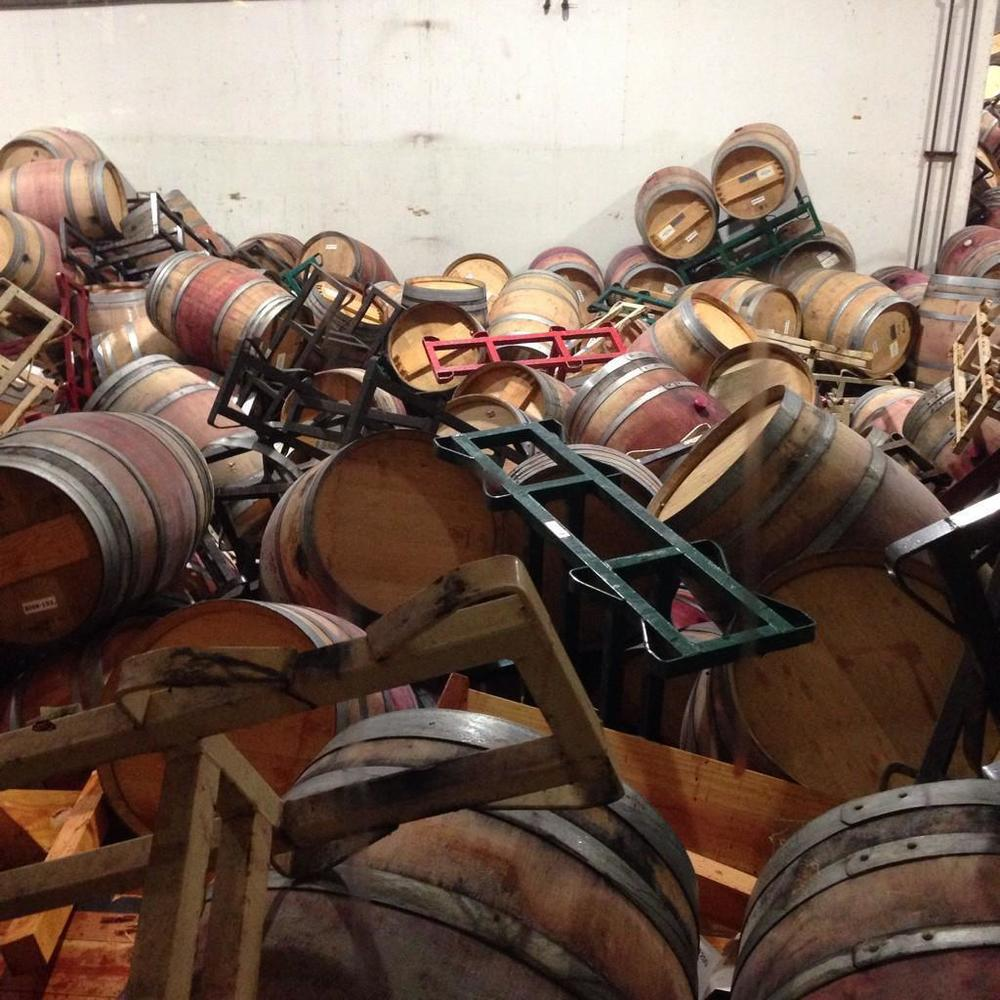 Damage to the Matthiasson Barrel Room