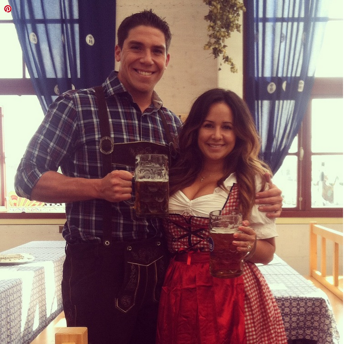 Jordan and her fiancé Nick at Oktoberfest in Germany!