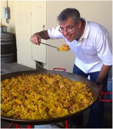 """TAPAS President and St. Amant Winery vintner Stuart Spencer calls Tempranillo """"A grower's grape"""" and advocates its food-friendly structure - especially when it comes to paella"""