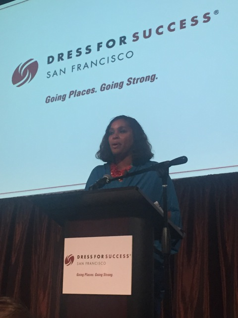 Joi Gordon, Dress for Success CEO shares her experiences with the audience