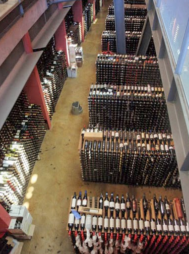 The largest wine cellar in the Southern Hemisphere at the National Wine Centre of Australia.