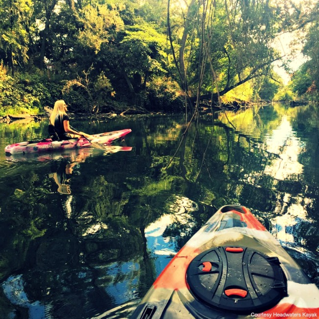 Kayaking the Mokelumne River. Courtesy of Headwater Kayak Shop.