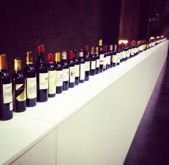 Standard En Primeurs tasting lineup | Photo courtesy of Devon Magee