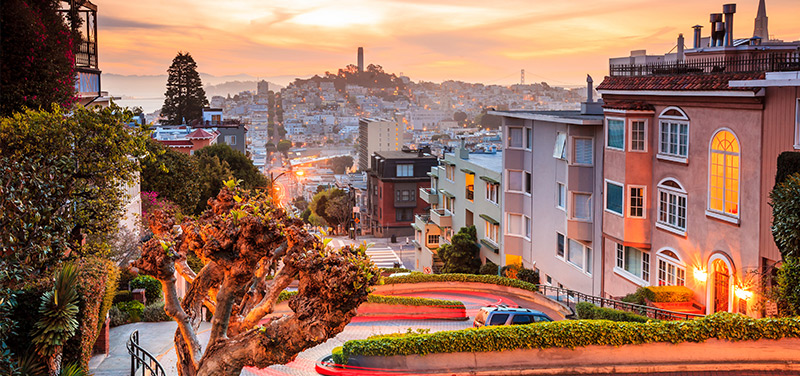 Sunset on Lombard Street. Photo courtesy of SAE Institute.