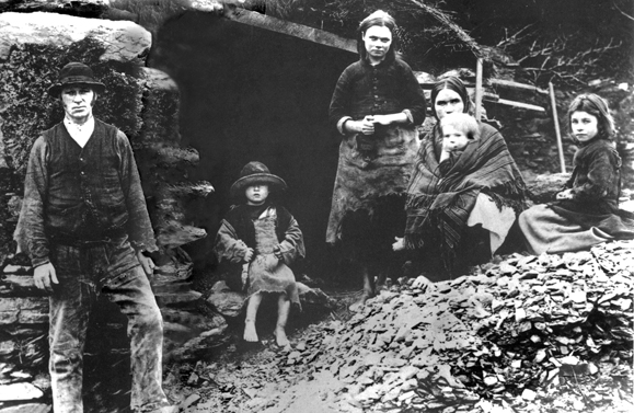 A poor Irish family ca. 1888. Photo couresty of Irish America magazine.