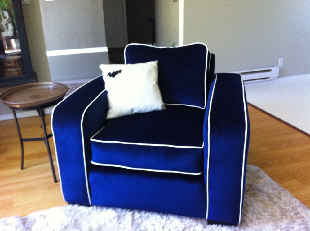 Beau Kevin Priestley Royal Blue Chair