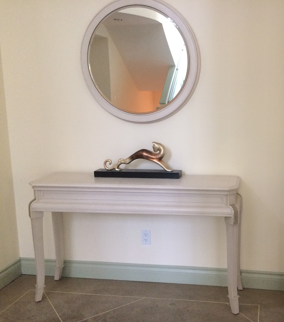 Italian Console Table With Matching Mirror Flock Interiors