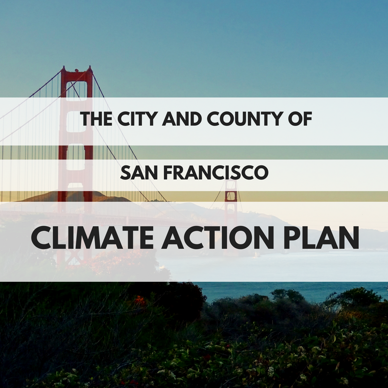 "Since San Francisco implemented its initial Climate Action Plan in 2004, San Francisco has made steady progress toward reducing greenhouse gas emissions while the city's economy and population continued to grow. San Francisco achieved these results by working with residents and the business community to use cleaner electricity, invest in energy efficiency, and recycle and compost more materials. San Francisco's Updated Climate Action Strategy details a path to achieving an 80 reduction in carbon emissions by 2050 through a ""0, 50, 100"" plan – zero waste, a 50 reduction in car trips and 100 percent clean energy.  Melanie Nutter directed the development of the updated strategy while she was Director at the San Francisco Department of the Environment."