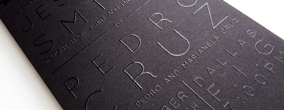 Discover the tactile beauty of thermography for your next project! Great for business cards or report covers!