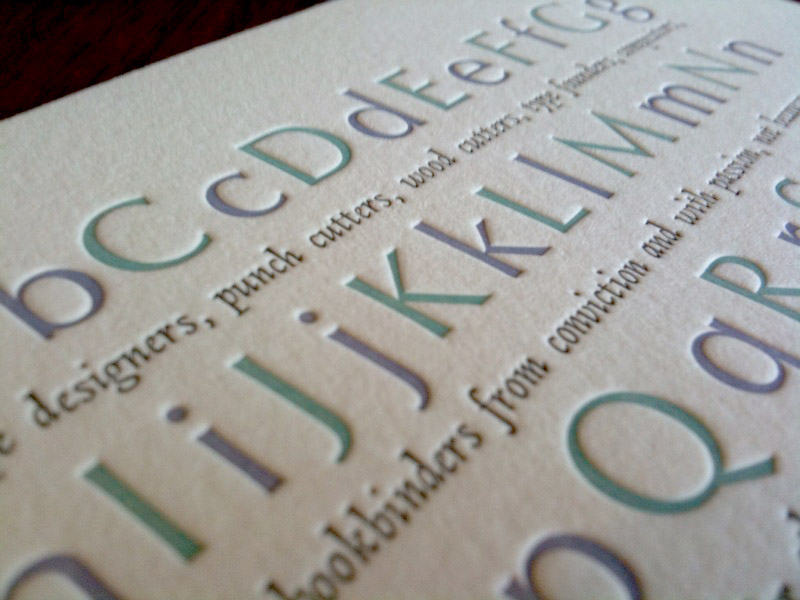 Letter Press cards will make your business cards a step above the competition.