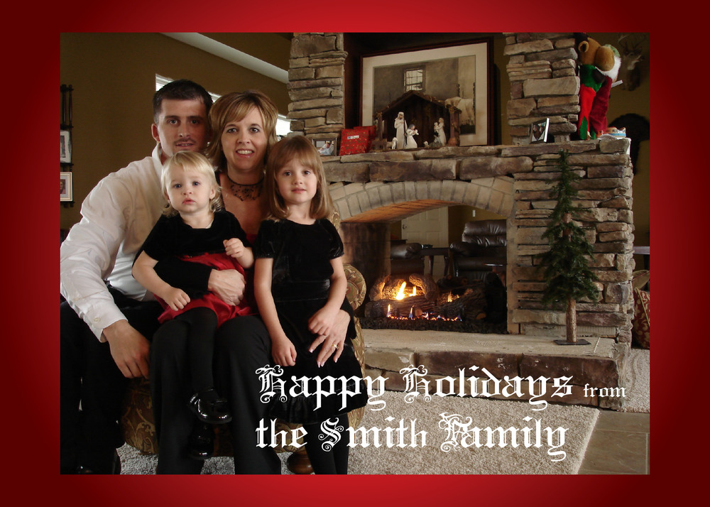 Send pics of your family, and get custom holiday cards!