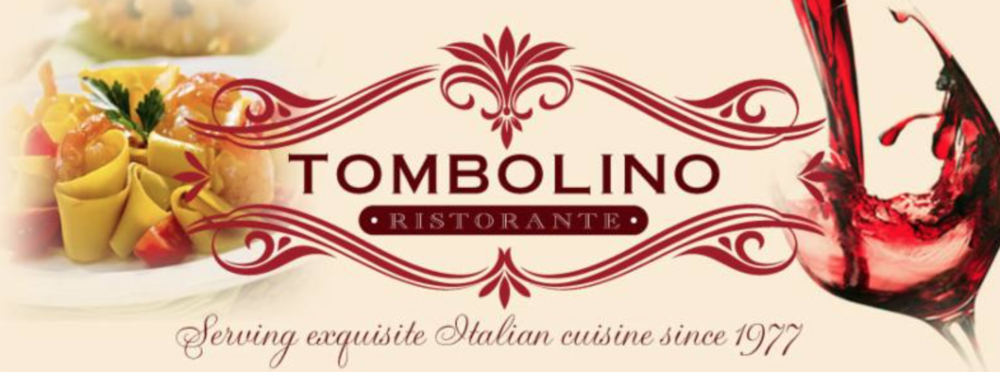 A very dated and distracting logo for Tombolino Ristorante, circa 2003.