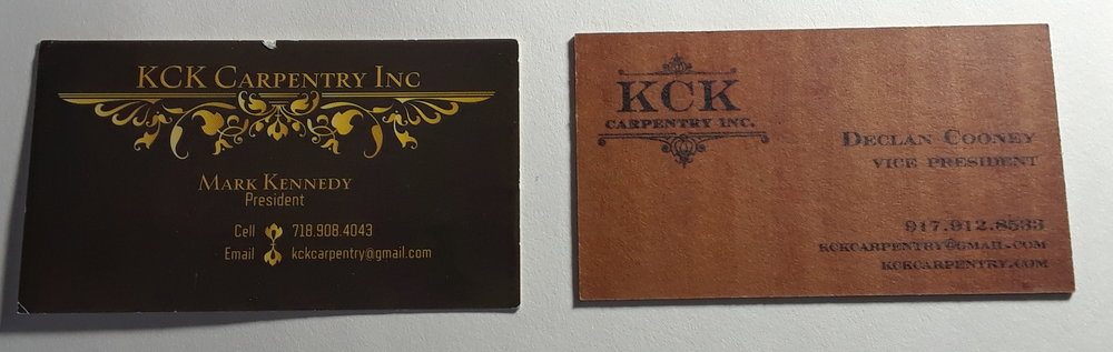 Before & After - As KCK had no real branding in place, it was simple to give the comapny a real tactile feel to all its materials. The super thick stock used give a memorable experience giving Mark and his crew the advantage in the marketplace.
