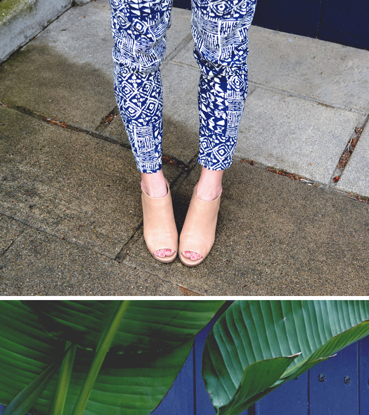 romper pattern | peep toe mules | good girl goes rad