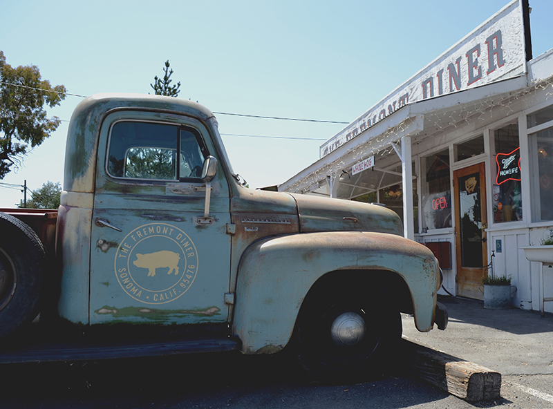Truck at Sonoma CA's Fremont Diner | Girl Goes Rad