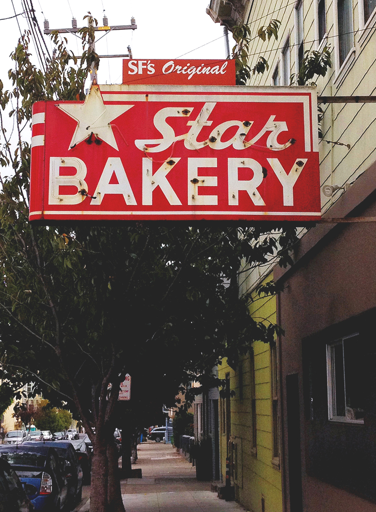star bakery signage | san francisco | Girl Goes Rad