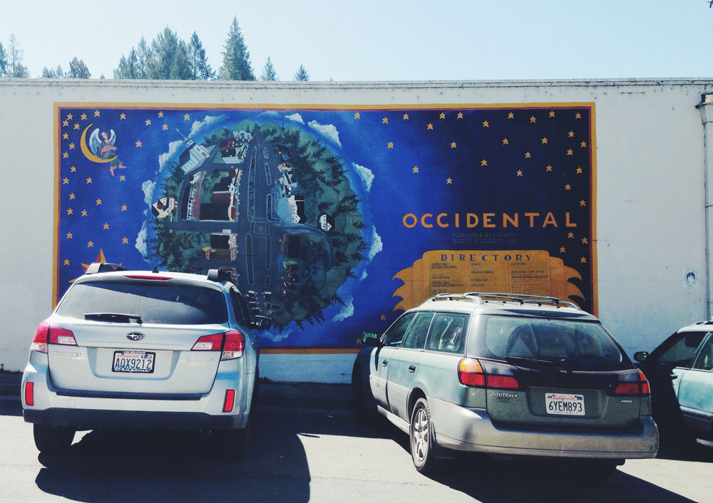 Mural in Occidental California | Girl Goes Rad