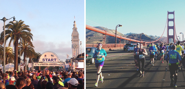 San Francsico Marathon | Ferry Building | Golden Gate Bridge