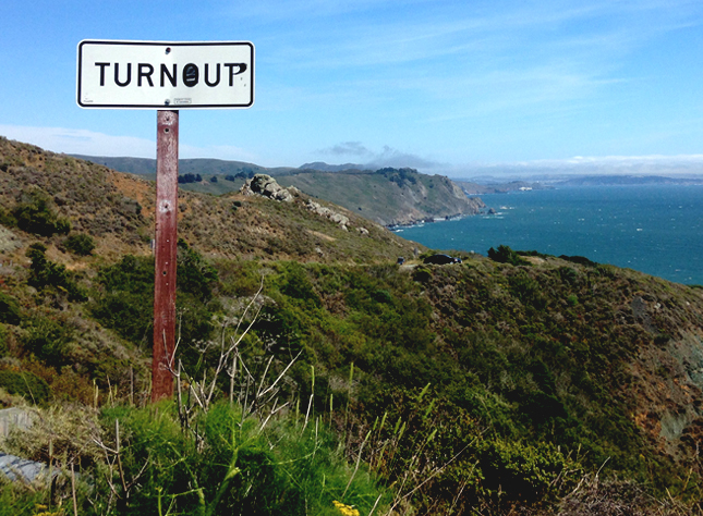 Turn Out Turn Up Highway 1 Road Sign