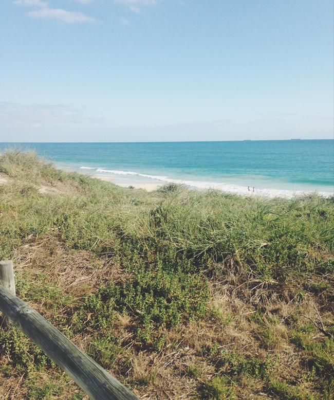 marathon training along the Indian Ocean Perth Western Austrao;a