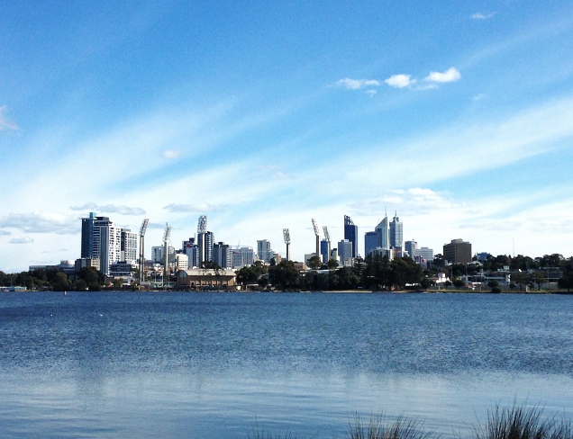 Perth City Skyline Western Australia