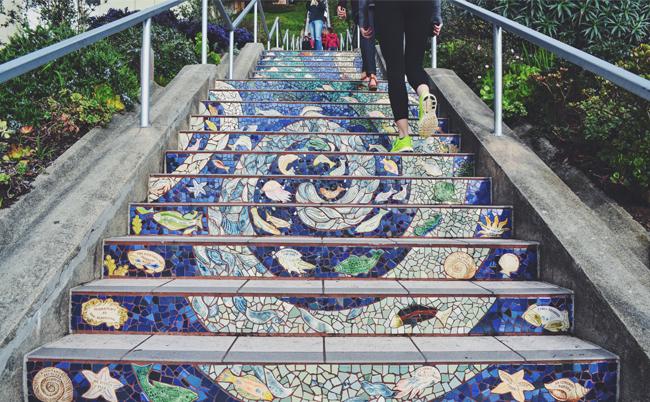 Moraga Street Stairs, San Francisco