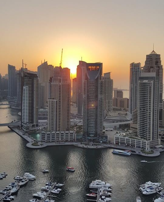 Dubai Marina, sunset