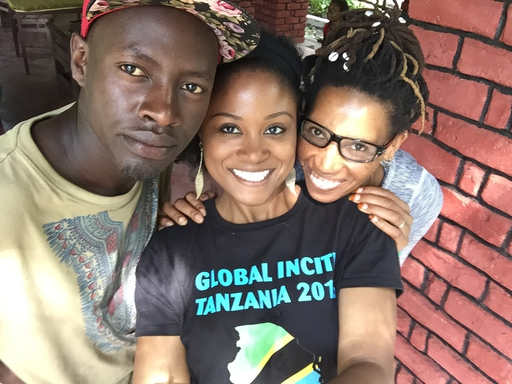 Tanzania 2016 - My Tanzanian dada (sister),kaka (brother)and I. They were extremely helpful and accommodating during our entire stay in Arusha.
