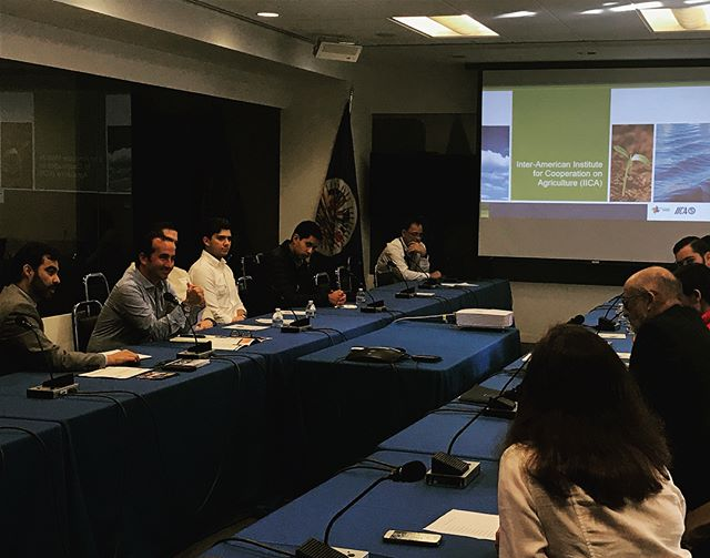 Presentations by Daniel Rodriguez and Dr. Miguel Garcia Winder at Inter-American Institute for Cooperation on Agriculture (IICA). #iica #globalincite #gitdmDC #studyabroad #agriculture #agtour #educationaltravel #studenttravel #internationaleducation #tecdemonterrey