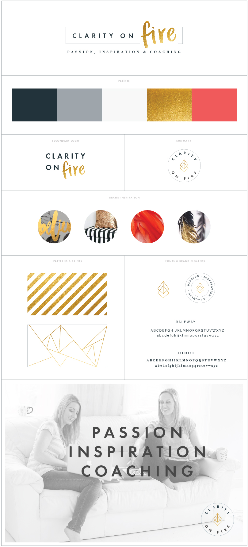 Clarity on Fire Brand Style Guide Samantha Madeo Design