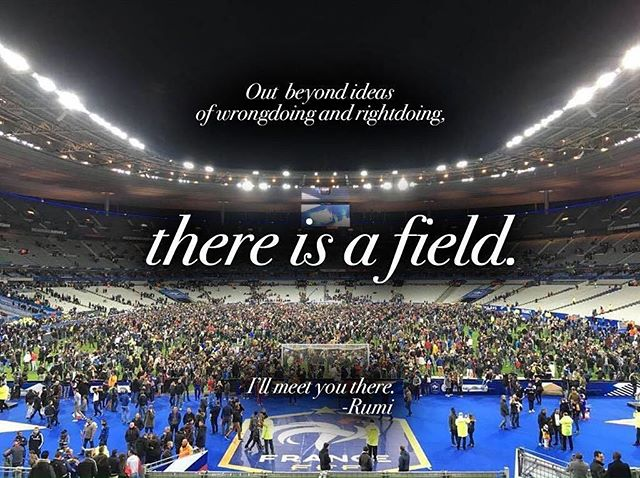 There is a field... #Paris