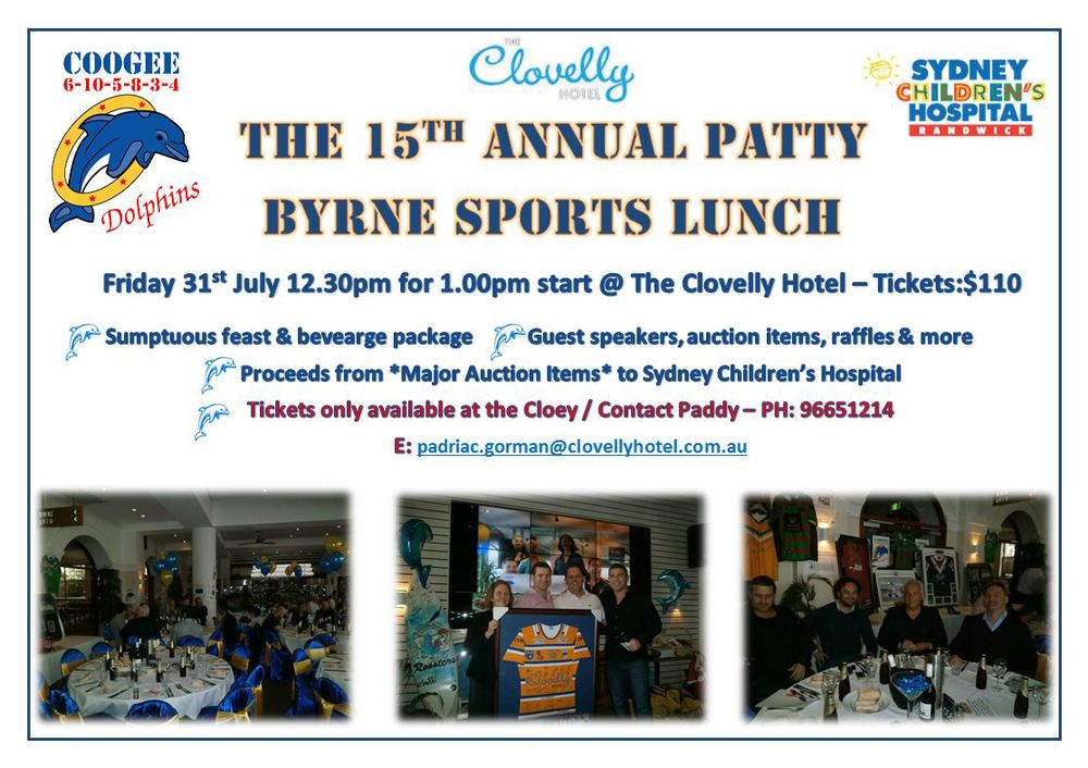 Tickets can be purchased at the Clovelly Hotel or by ringing the Clovelly Hotel on 96651214. Ask for Paddy or one of the managers. See you there!