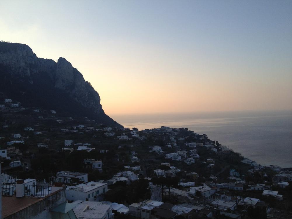 Capri, Italy from Hotel Capri