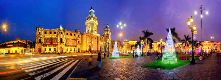 A quick trip to Plaza de Armas during your layover in Lima could result in this breathtaking view.