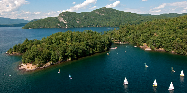 Just North of Saratoga Springs is Lake George