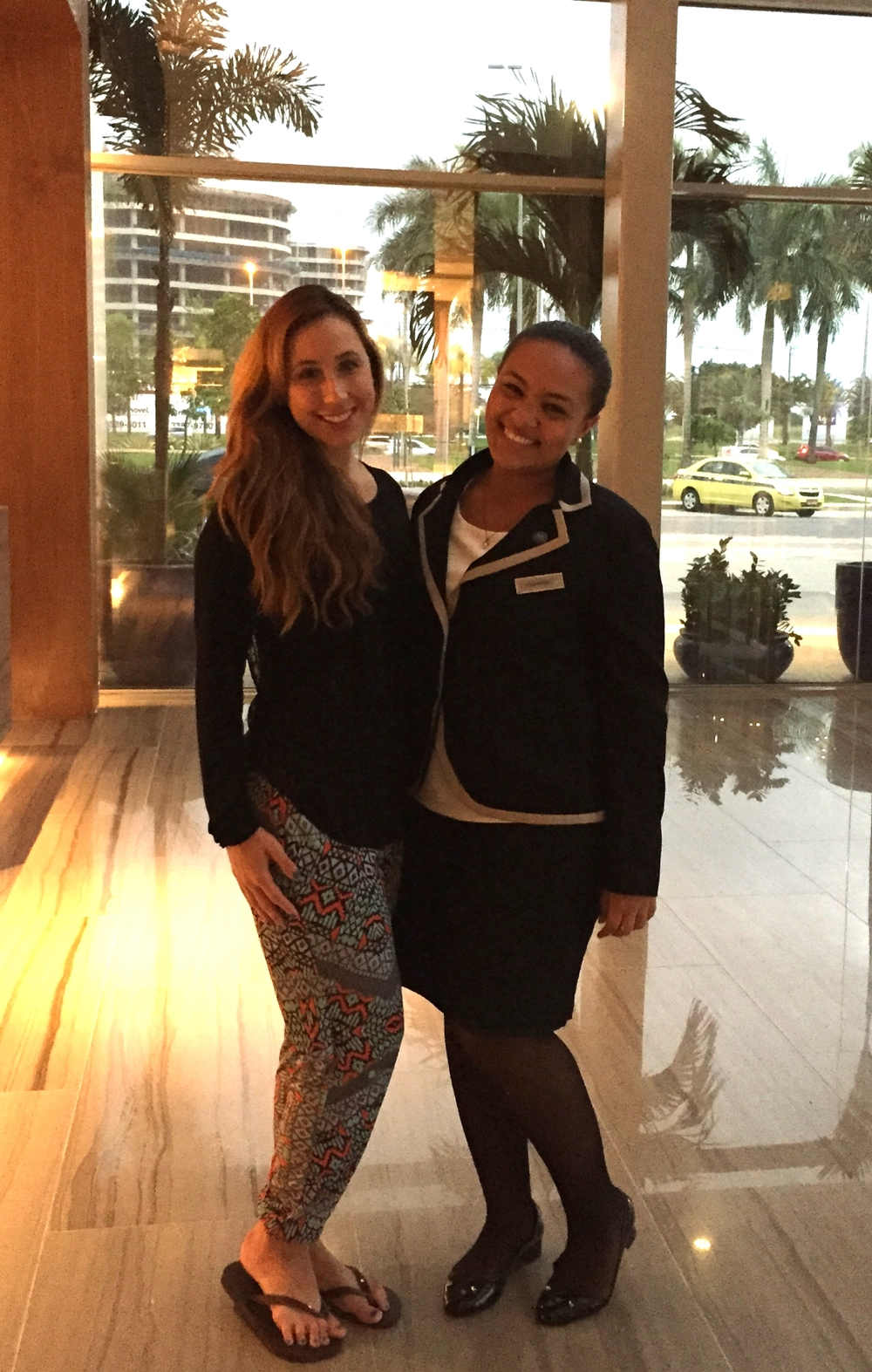 Myself (left) and Thamyris (right) the Hilton Barra's amazing concierge