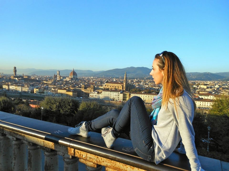 Taking in the views in Florence, Italy