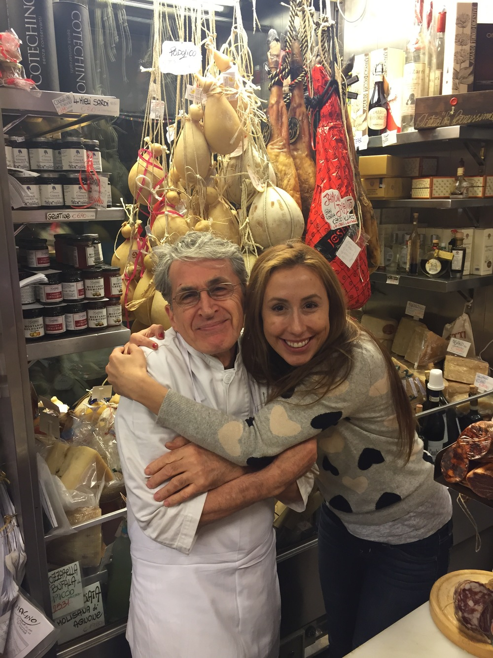 Claudio Volpetti always rolls out the red carpet for me when I come to Rome & visit his shop. My Italian isn't great and neither is his English, but we bond over food tastings and hugs.